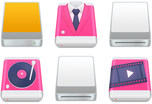 CleanMyDrive 2 for OS X disk icons