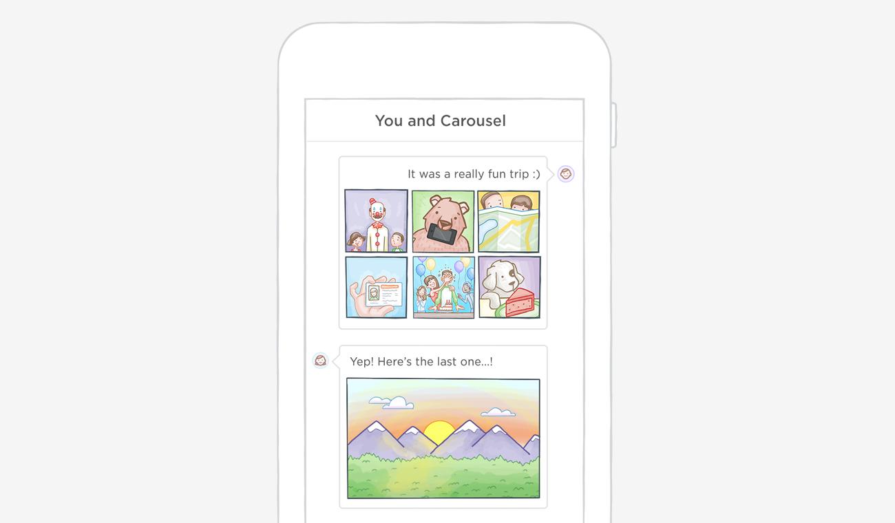 Dropbox Carousel teaser de la aplicación 001