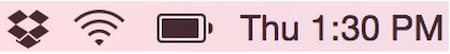 Dropbox for OS X menu icon after syncing Mac screenshot 001