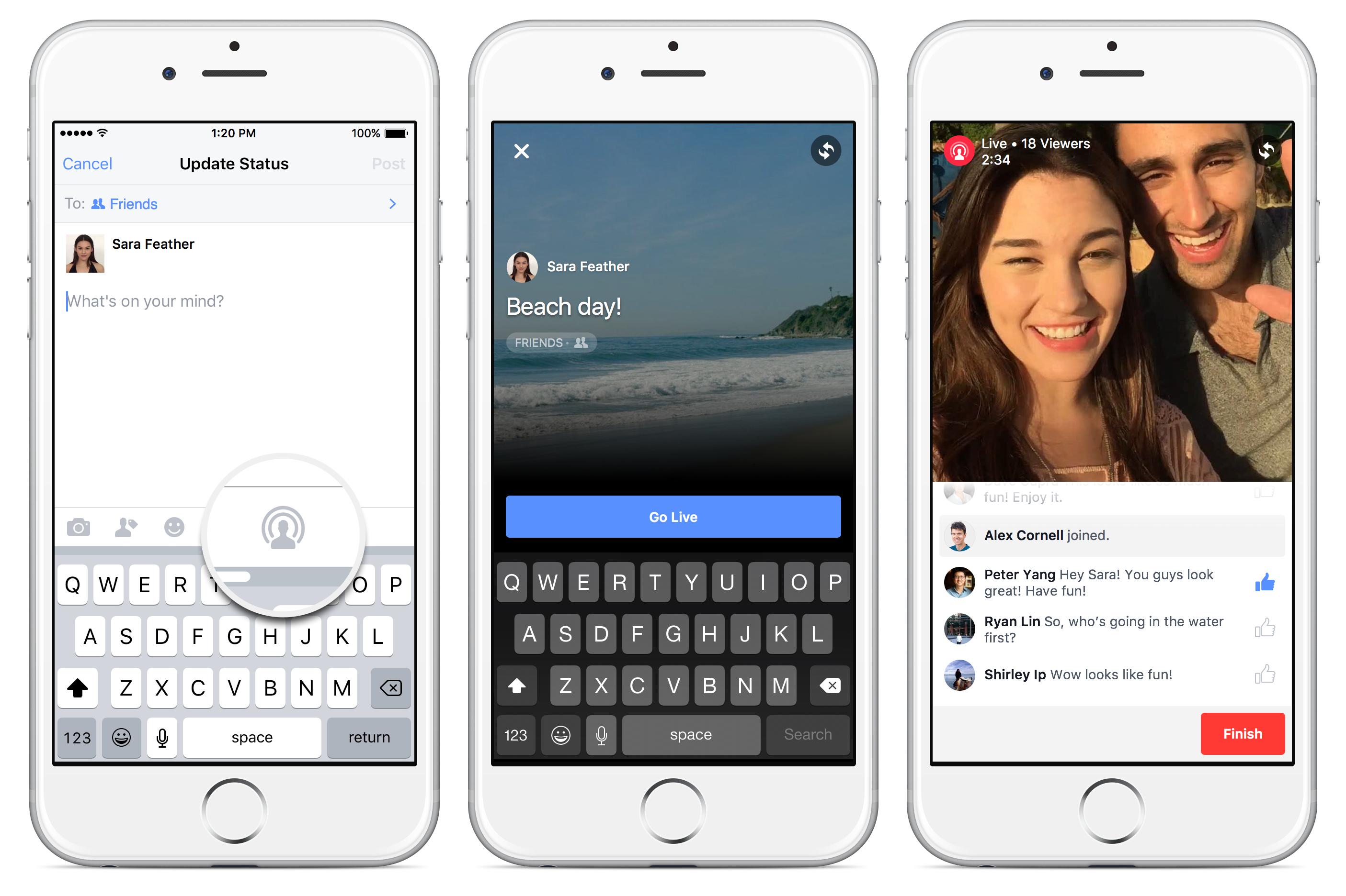 Captura de pantalla de Facebook Live Video iPhone 001