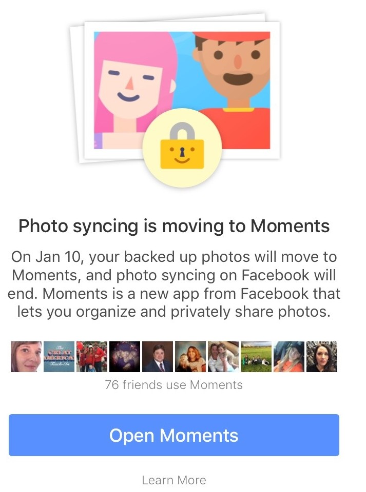 Facebook photo syncing ending image 002