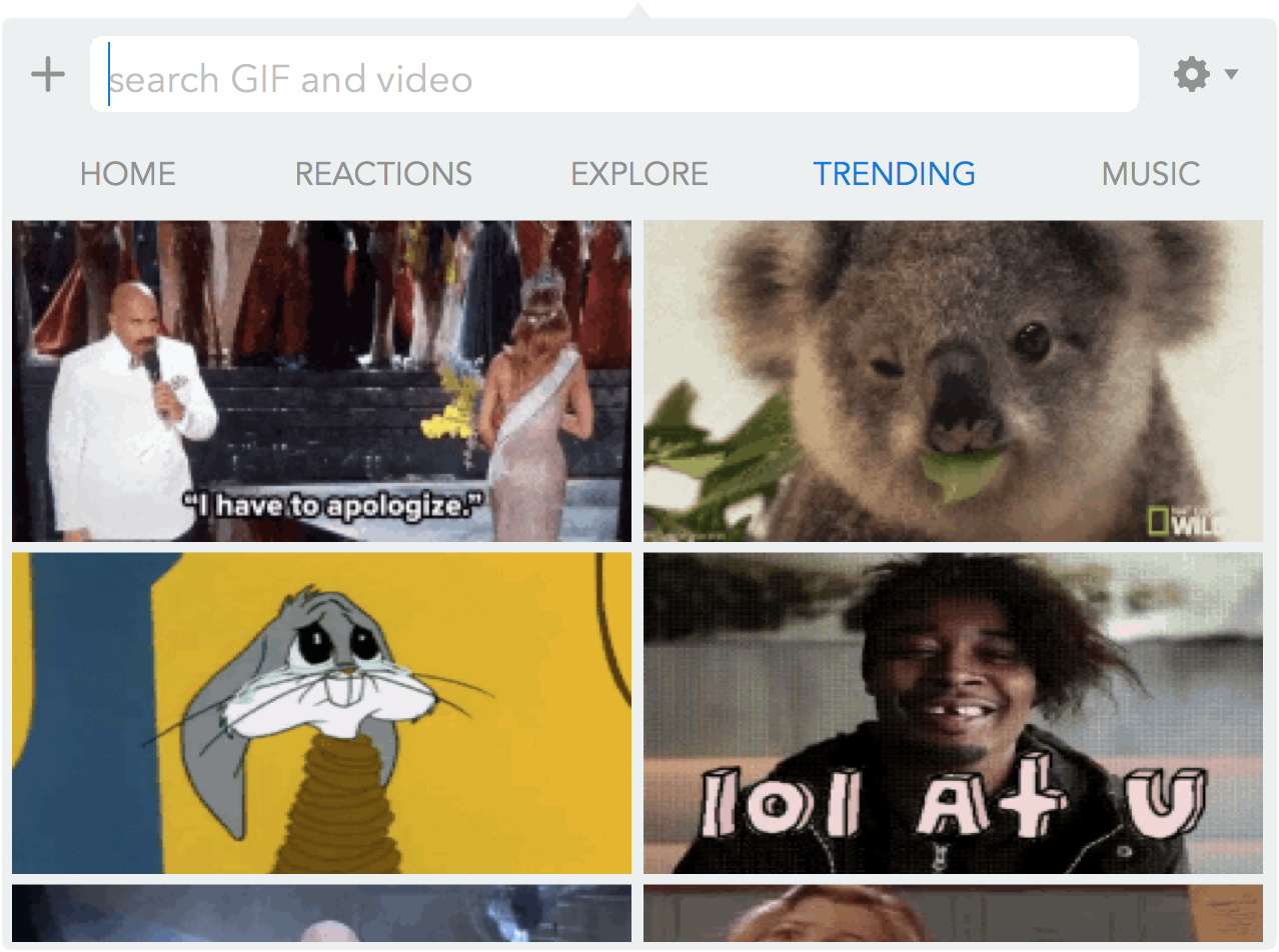 GIF Keyboard Mac Trending