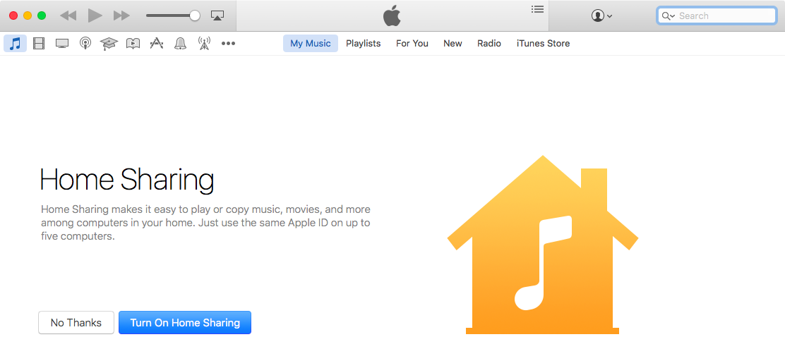 Home Sharing sign in iTunes Mac screenshot 005