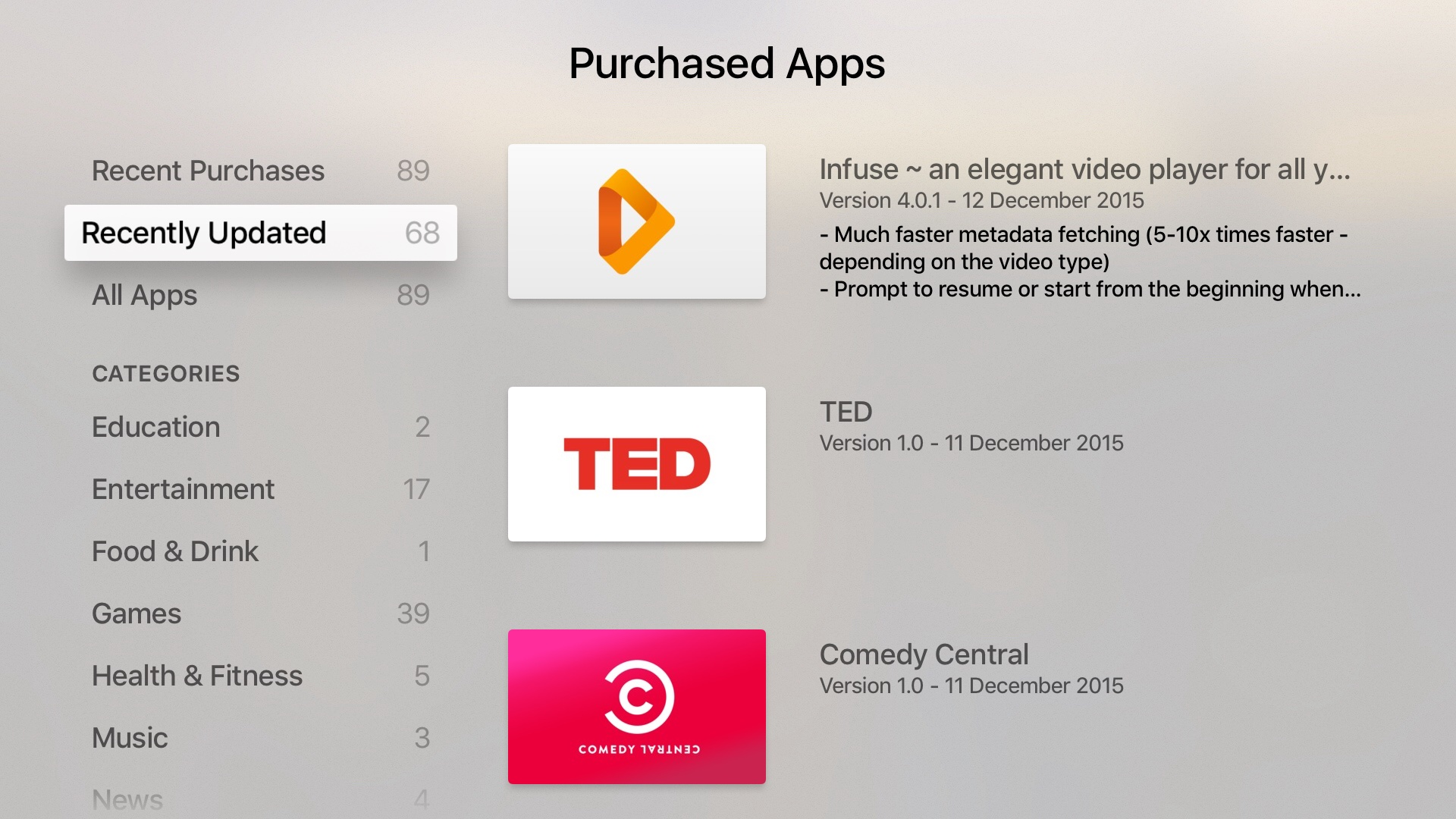 How to Apple TV app changelog tvOS screenshot 002