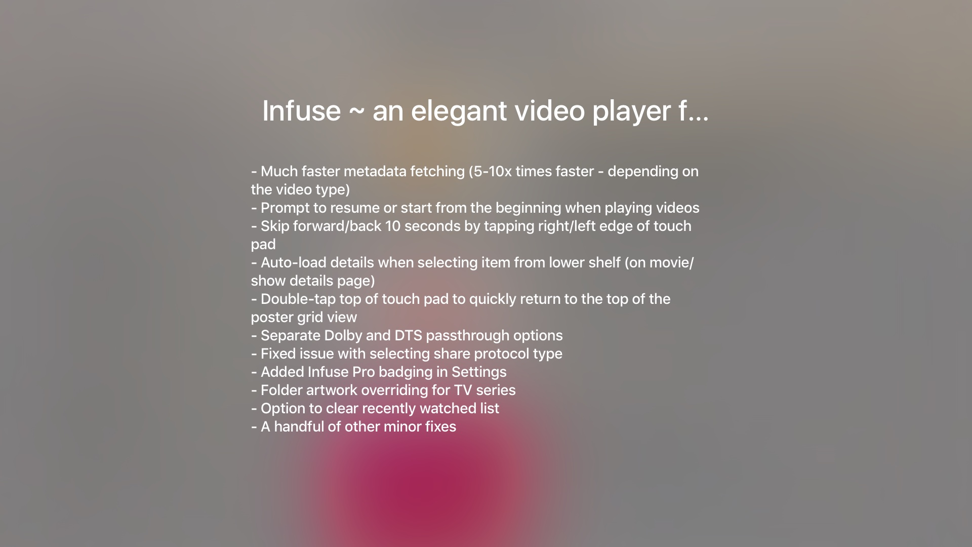 How to Apple TV app changelog tvOS screenshot 004