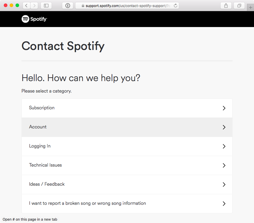 How to close Spotify account web screenshot 001