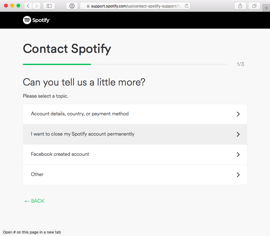 How to close Spotify account web screenshot 002