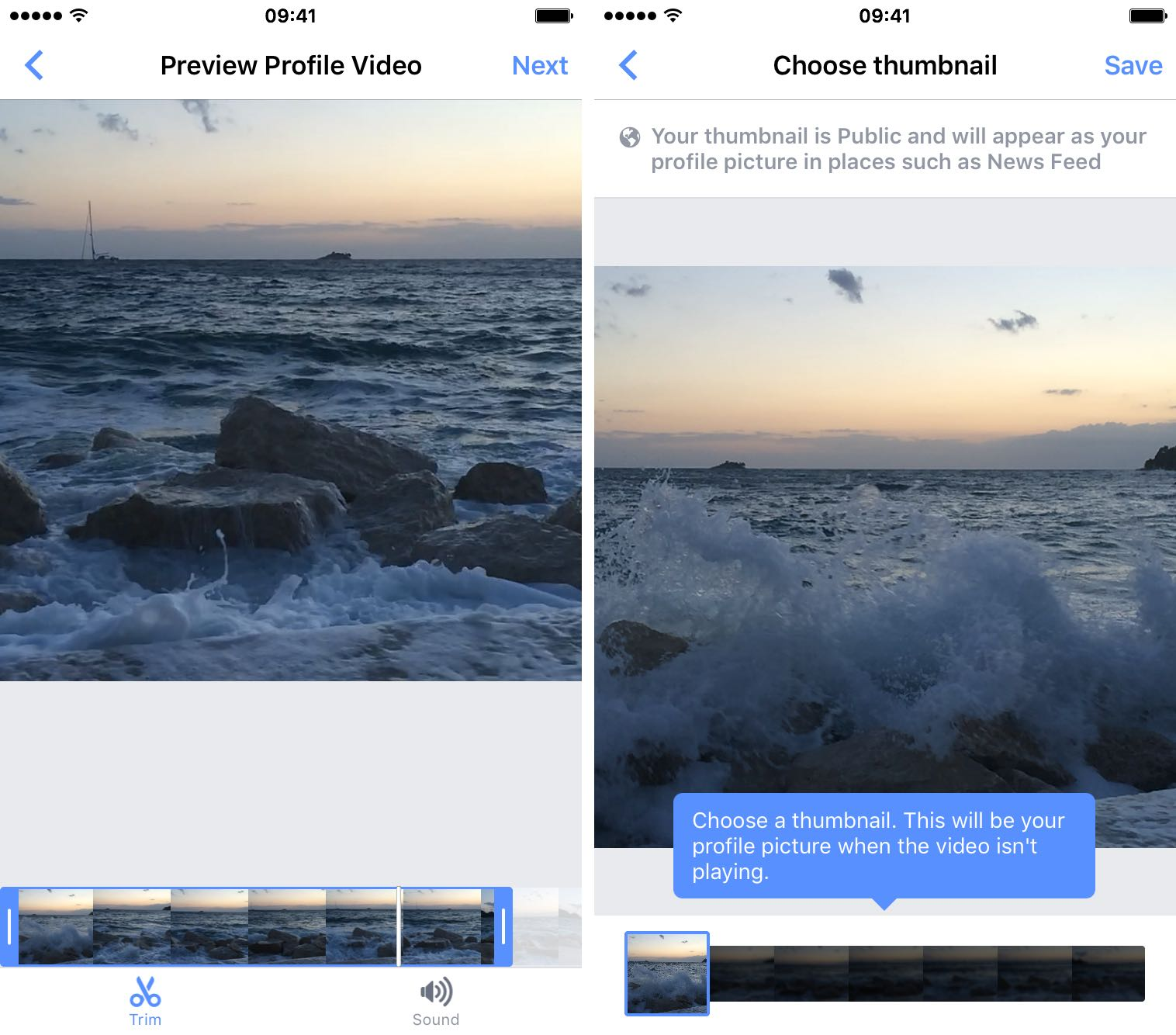 How to make Facebook profile video iPhone screenshot 002