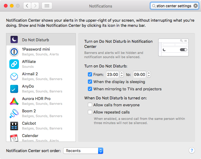 How to schedule Do Not Disturb Mac screenshot 004