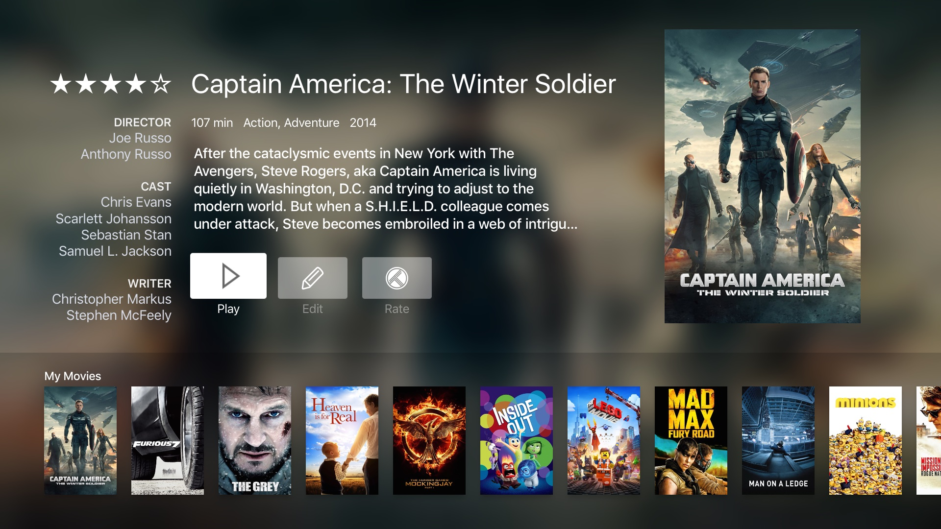Infuse 4 para tvOS Apple TV captura de pantalla 005