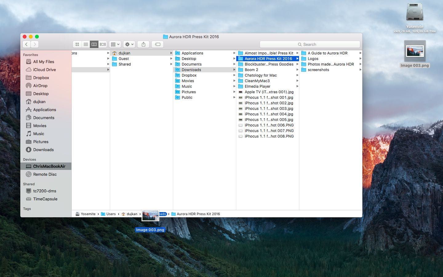 OS X El Capitan Finder Path Bar Mac screenshot 003