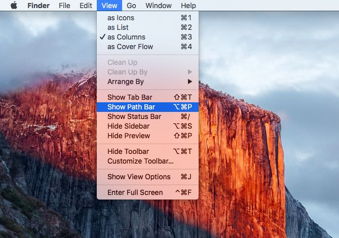 OS X El Capitan Finder Path Bar Mac screenshot 006