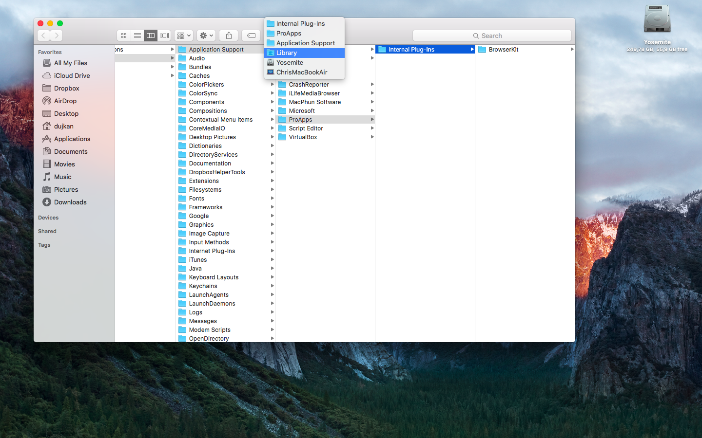 OS X Yosemite show full path in Finder window titlebar Mac screenshot 001