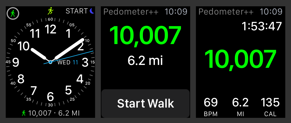 Pedometer Plus Plus 2.3 for watchOS Apple Watch screenshot 001