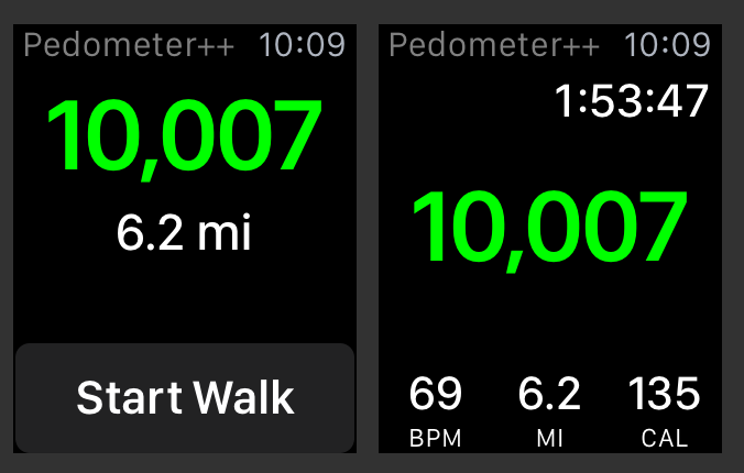 Pedometer Plus Plus 2.3 for watchOS Apple Watch screenshot 003