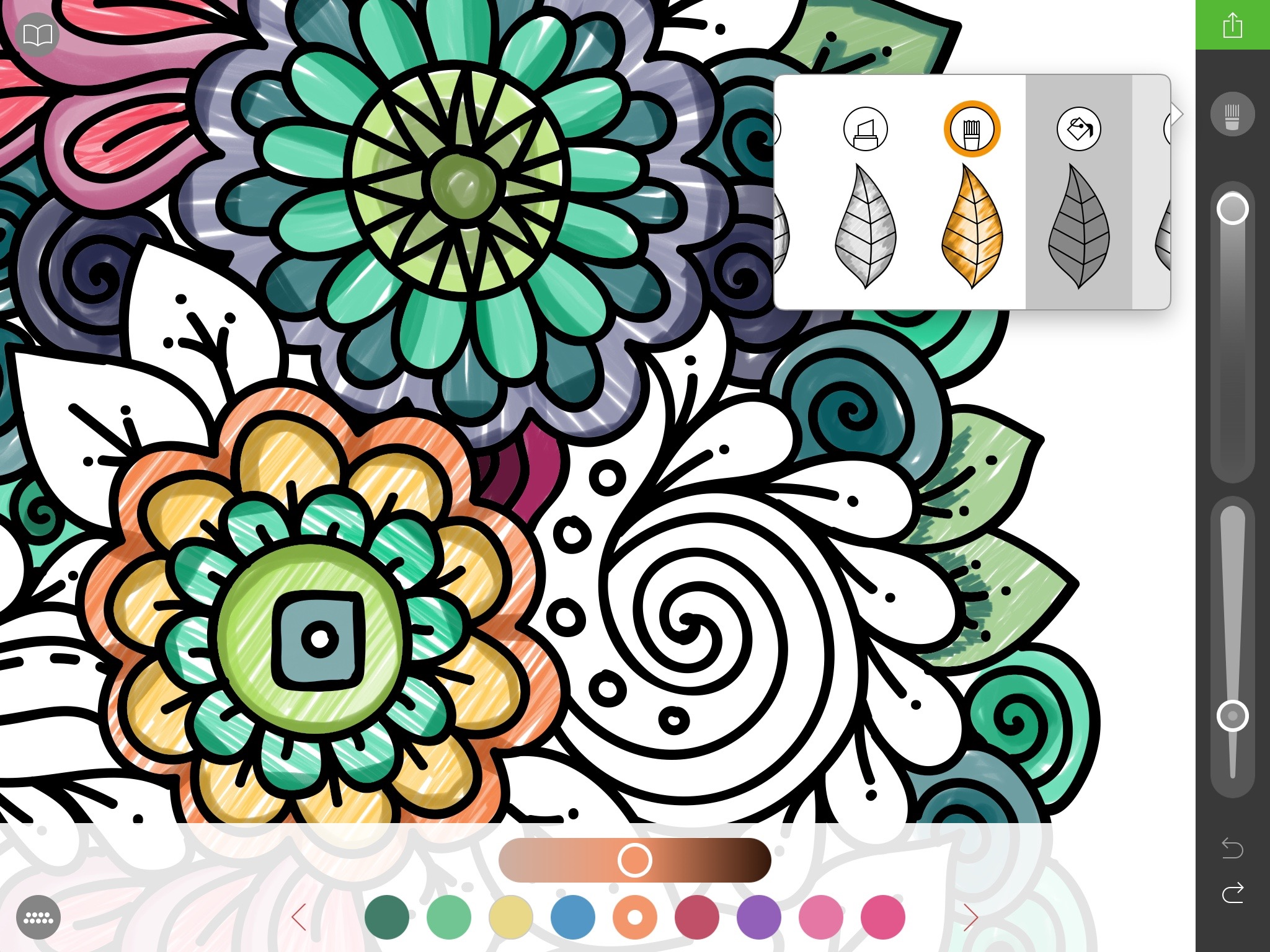Pigment review: the first coloring book app to get it right