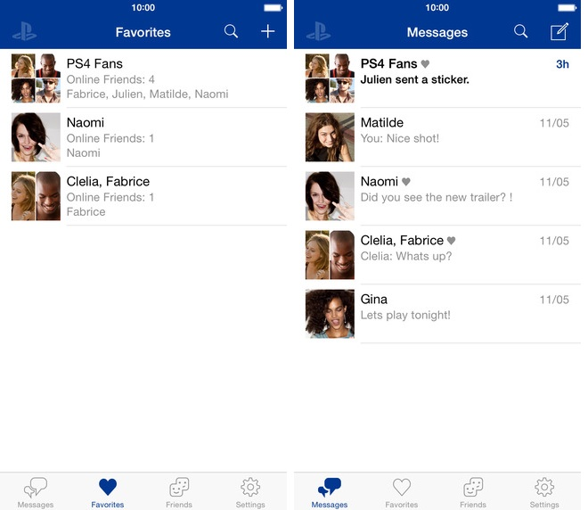 Sony PlayStation Messages 1.0 for iOS iPhone screenshot 001