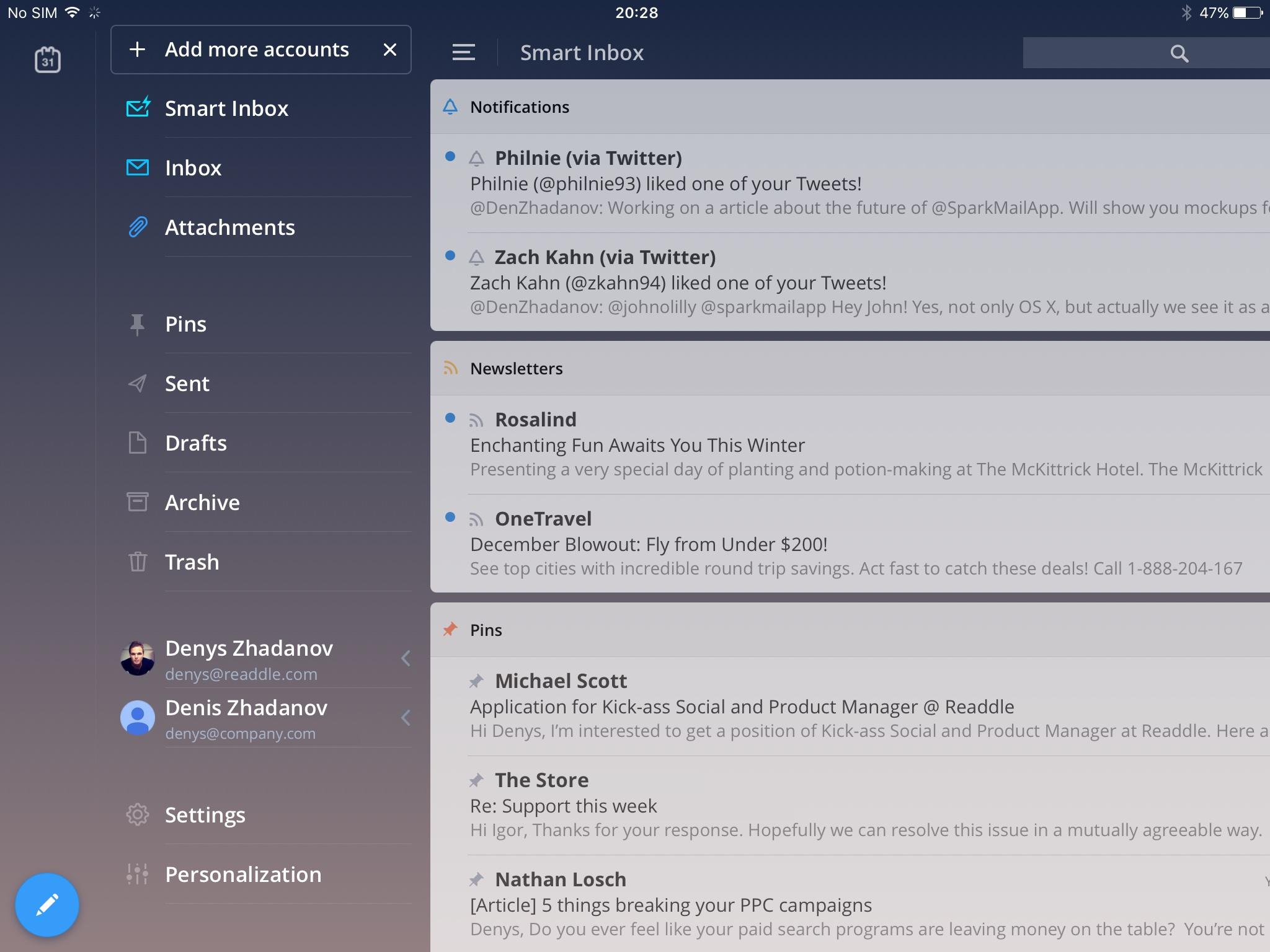 Spark for iPad teaser