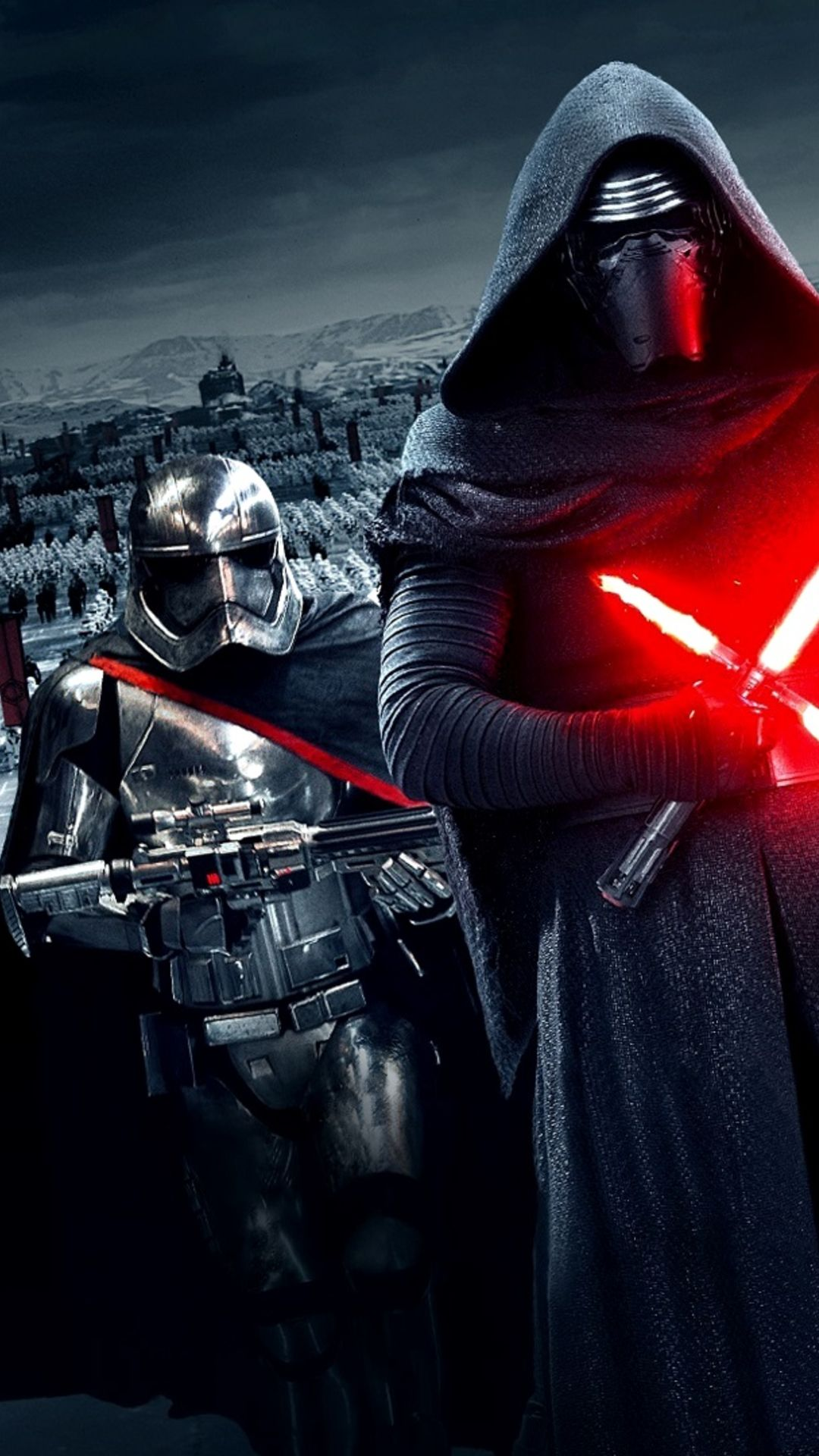 Star Wars The Force Awakens Wallpaper Kylo Ren Captain Phasma