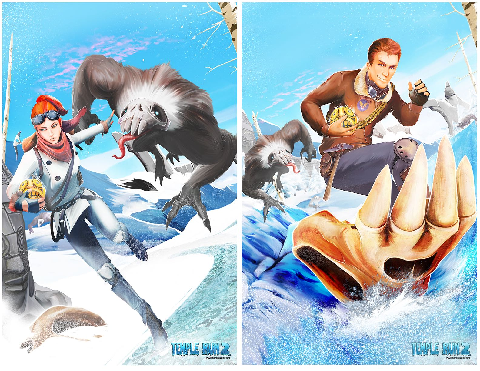 Temple Run 2 Frozen Shadows characters 001
