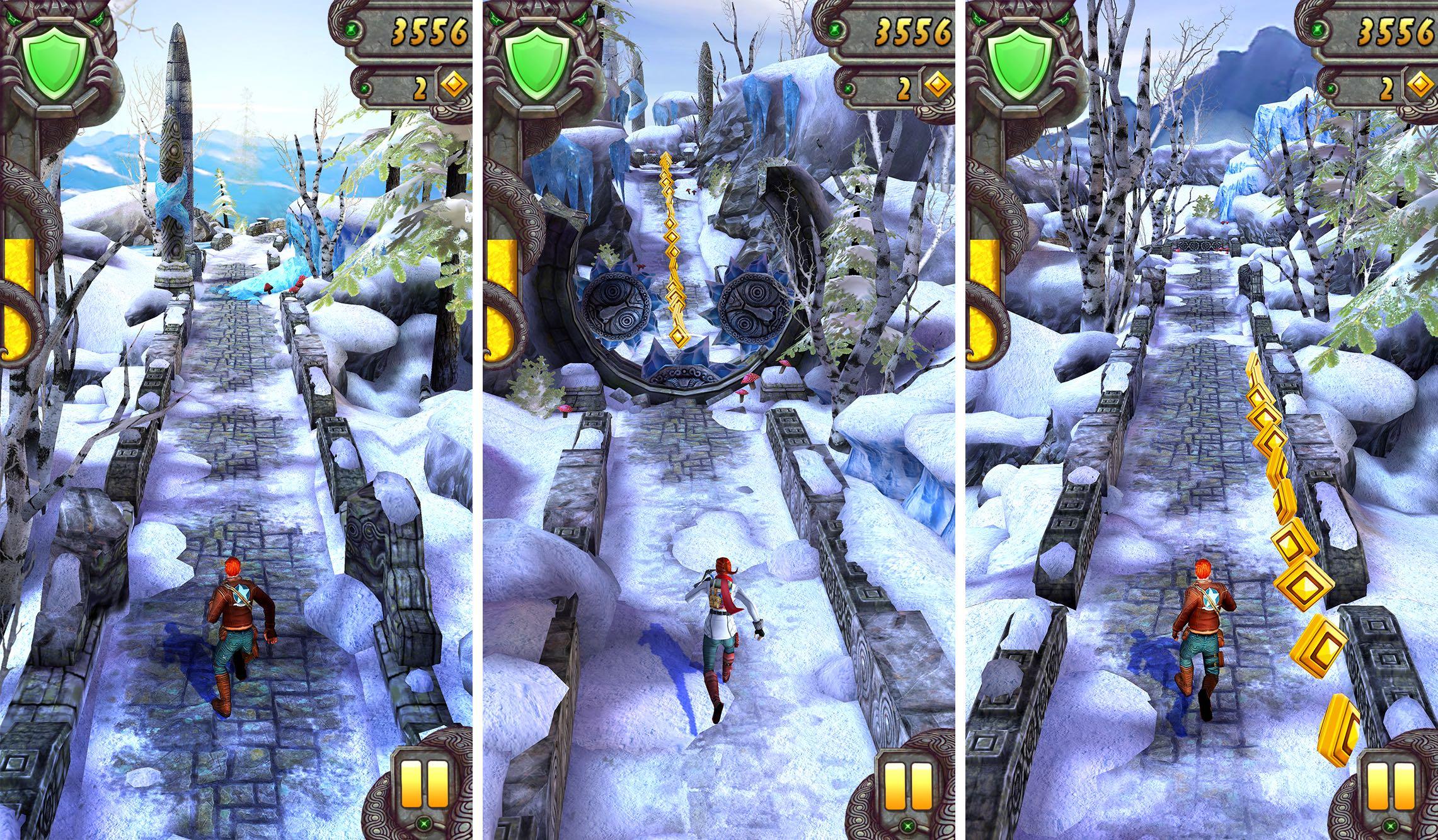 Captura de pantalla 001 de Temple Run 2 Frozen Shadows para iPhone