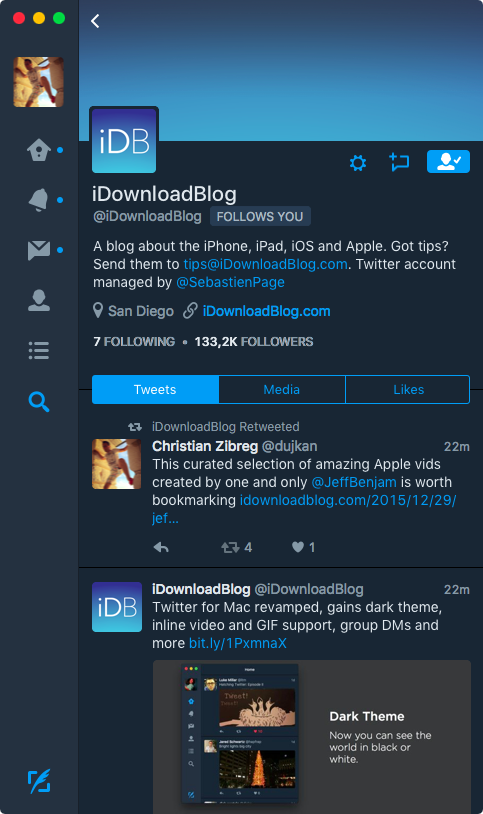 Twitter 4.0 for OS X Mac screenshot 007