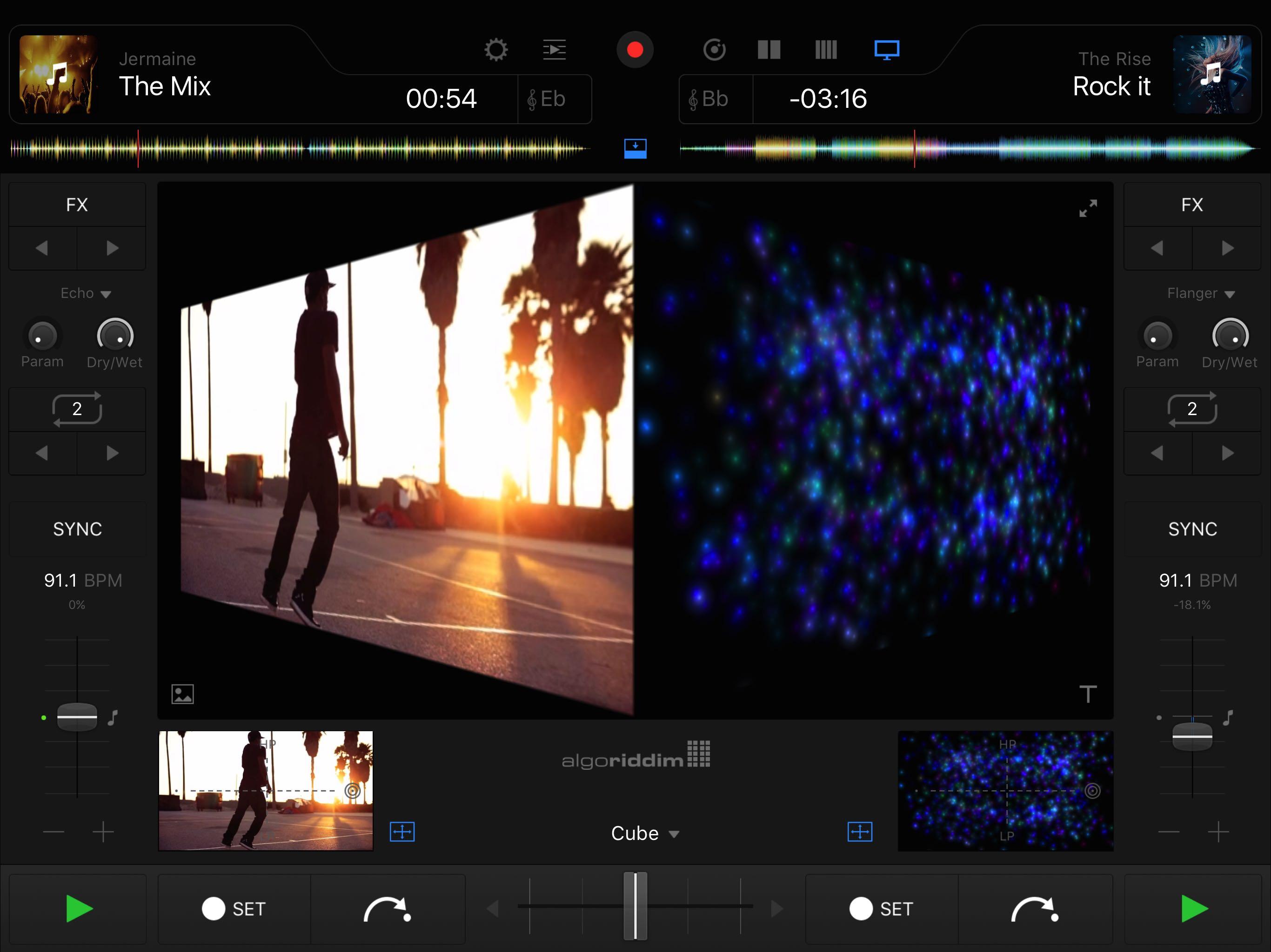 djay Pro 1.0 para iOS iPad captura de pantalla 002