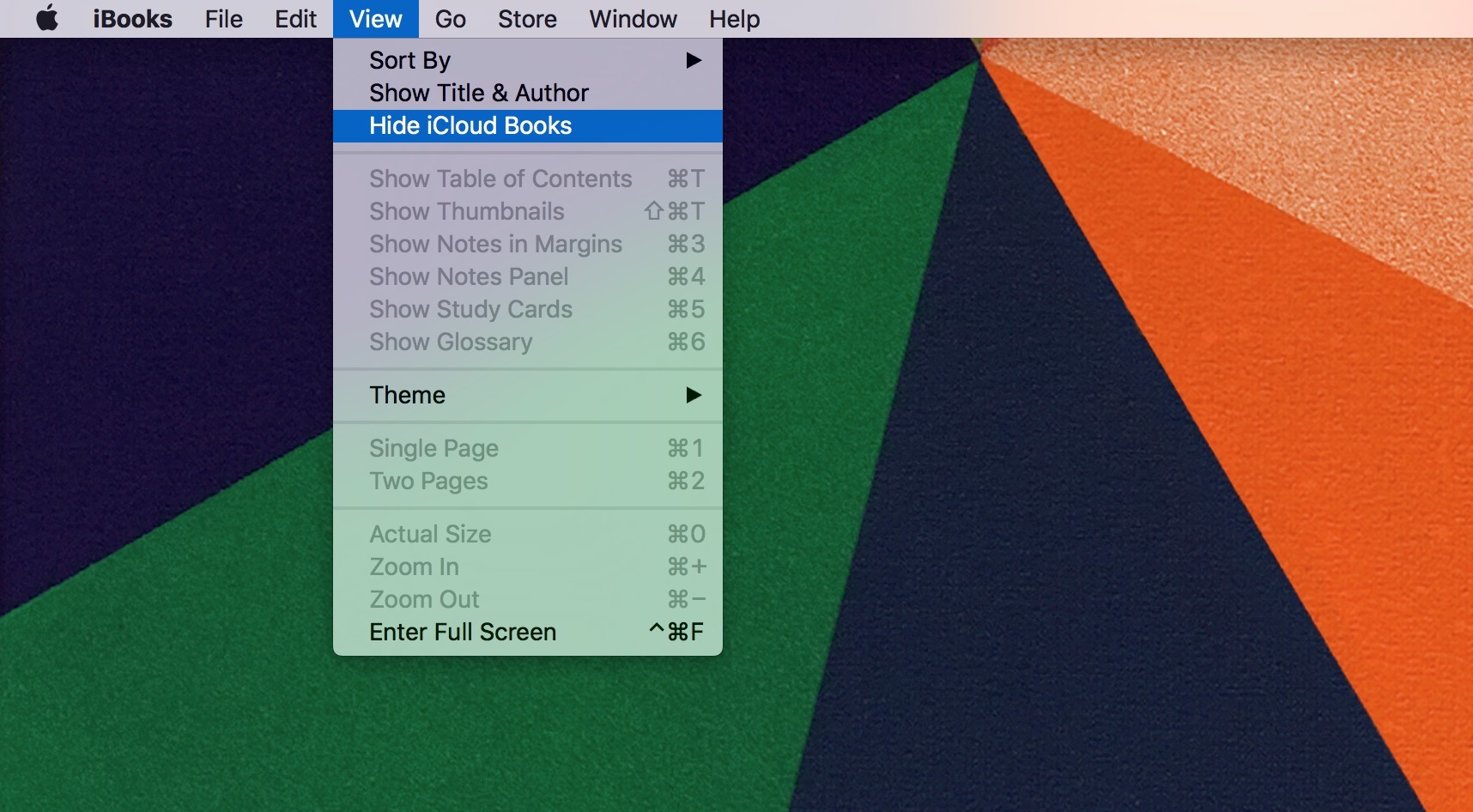 How to hide purchased books in iBooks