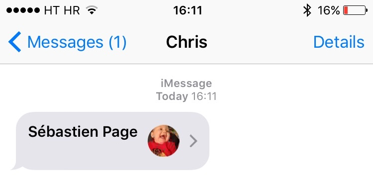 iOS 9 Messages 3D Touch iPHone 6s screenshot 0003