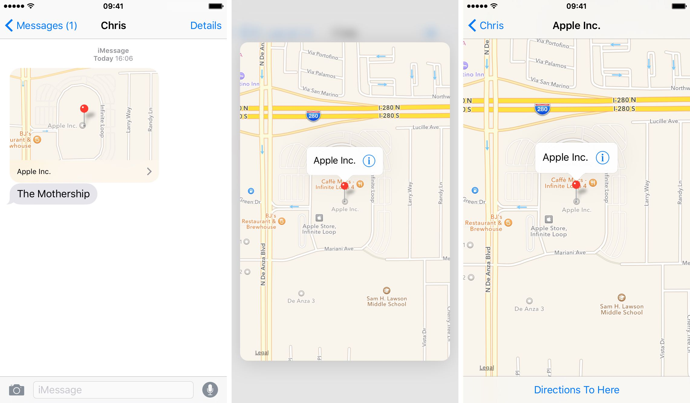 iOS 9 Messages 3D Touch iPHone 6s screenshot 005