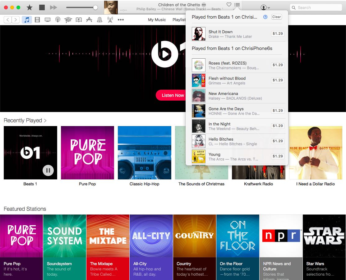 How to see a list of recently played music on Apple Music