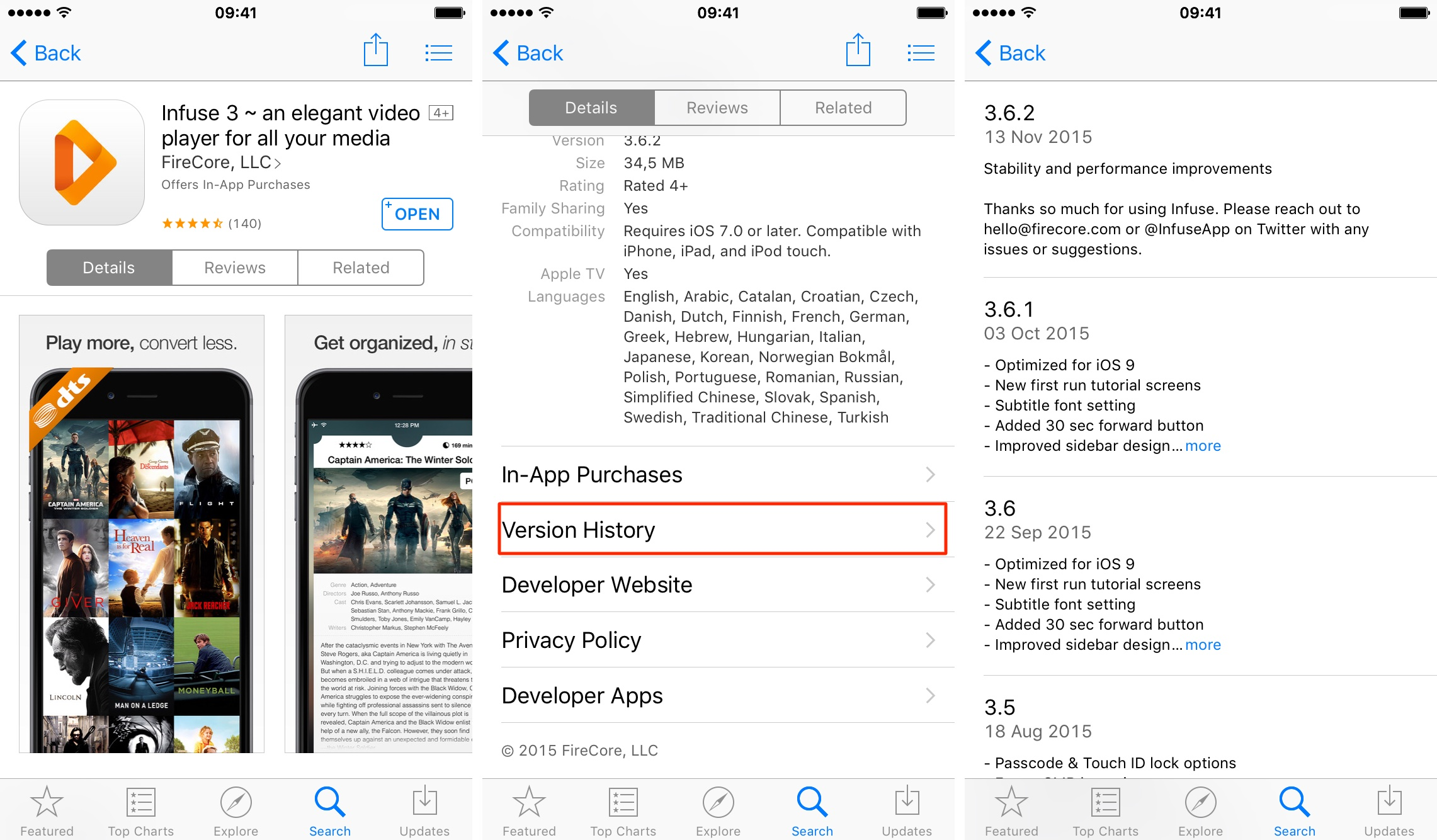 iOS App Store Version History iPhone 6s screenshot 001
