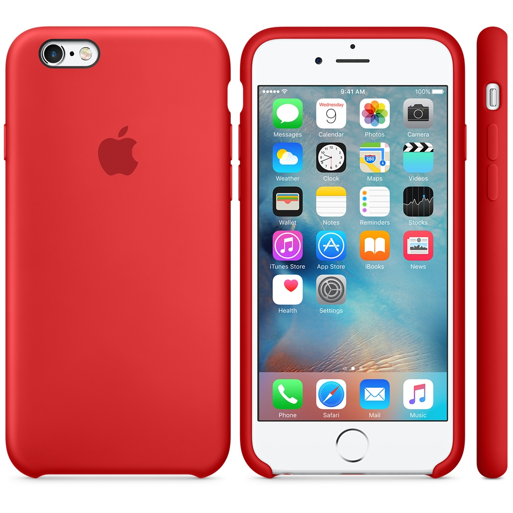 iPhone 6s Silicone Case Product RED image 001