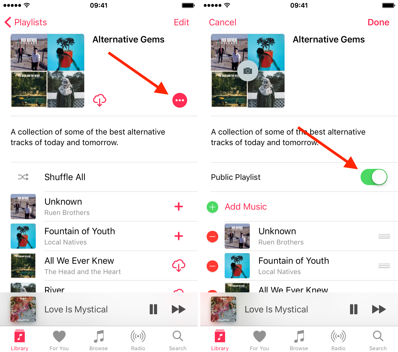 How To Share Apple Music Playlists Two Way Switch Wont Turn Off As Of Now Editing Where Both The Playlist Creator And Recipient Can Collaborate On Curating Isnt Yet Possible