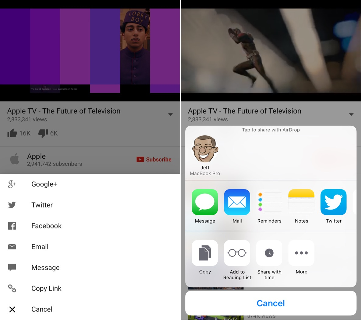 How to add the native iOS share sheet to the YouTube app [jailbreak]