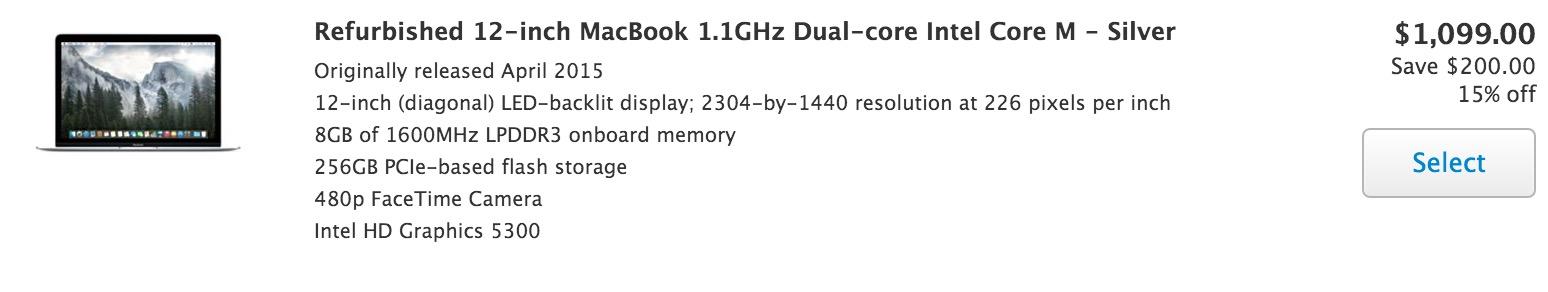 12 MacBook Refurb