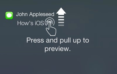 3d touch notifications banner image