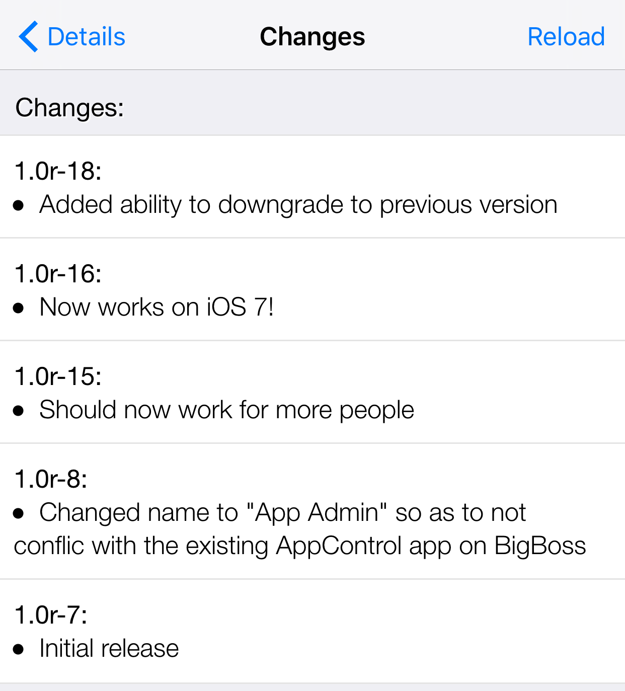 App Admin updated with even more iOS app downgrading features