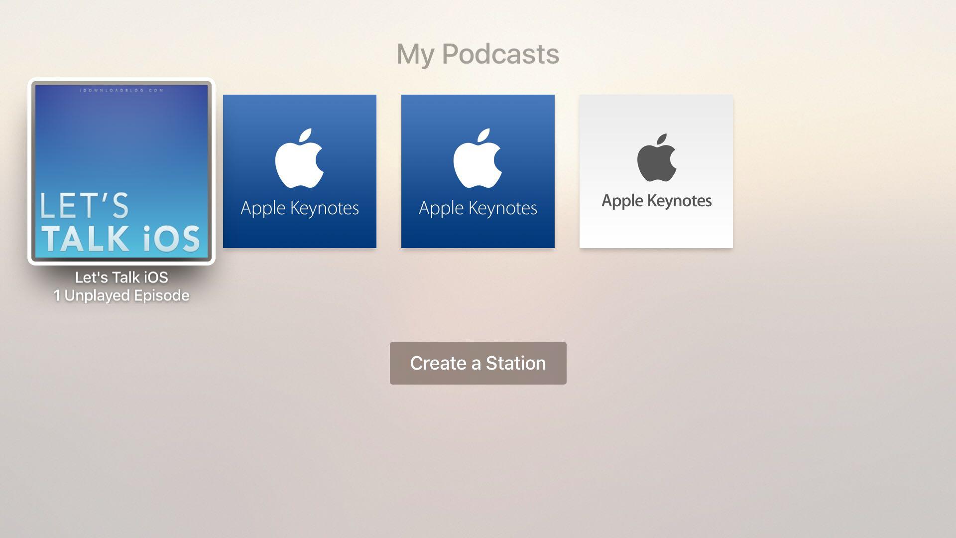 Apple TV Podcasts app tvOS screenshot 003