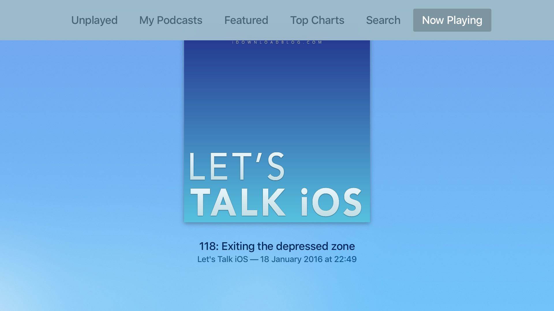 Apple TV Podcasts app tvOS screenshot 007