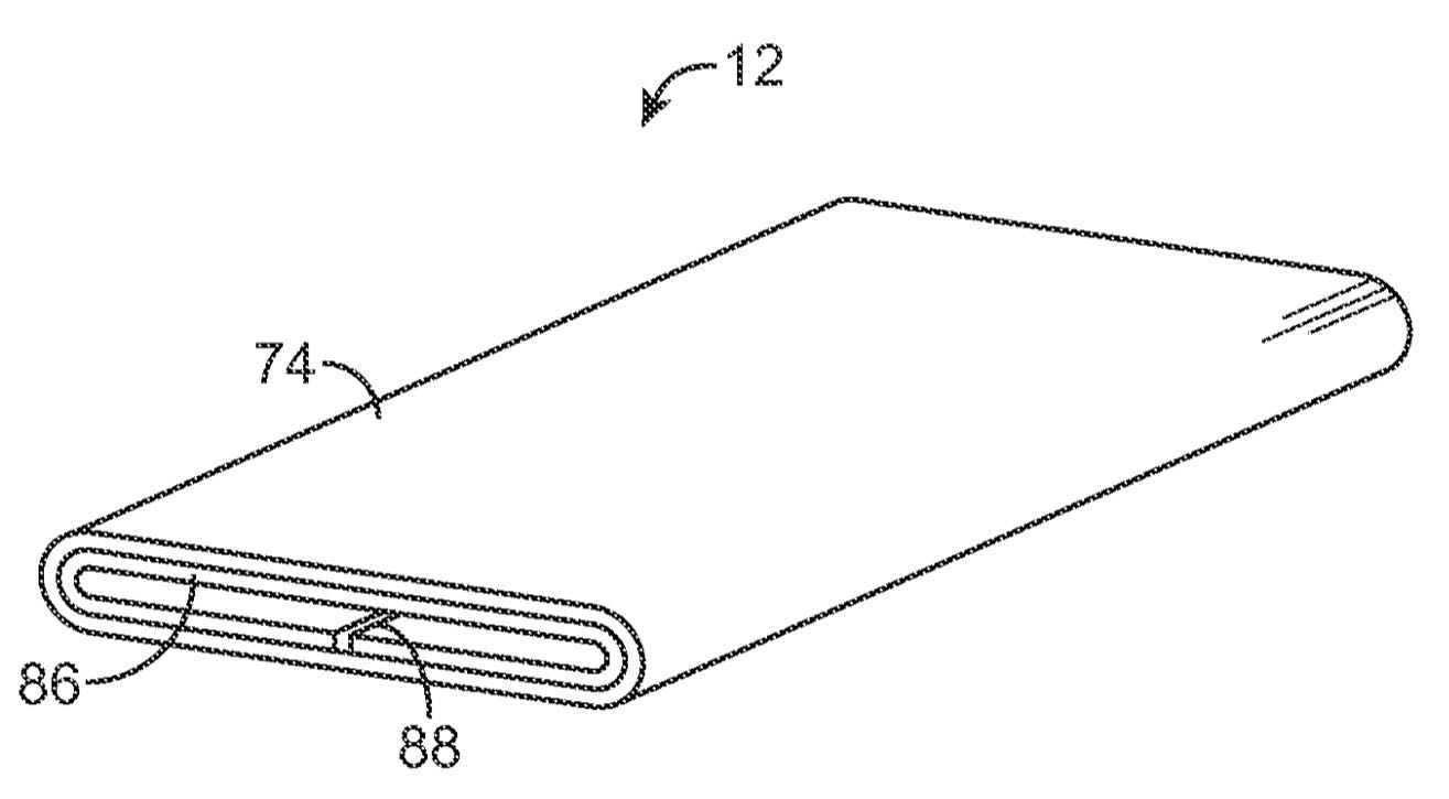 Apple patent iPhone wraparound display drawing 001