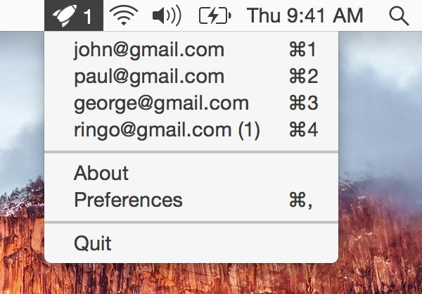 Aura 1.3 for OS X unread conversations Mac screenshot 001