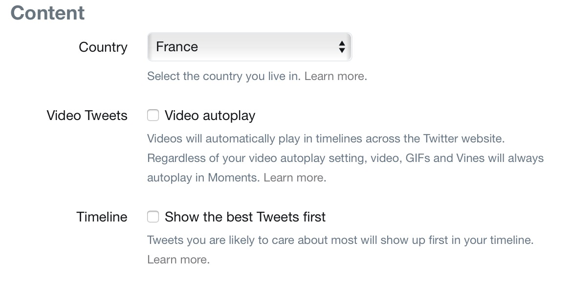 disable autoplay videos on Twitter.com