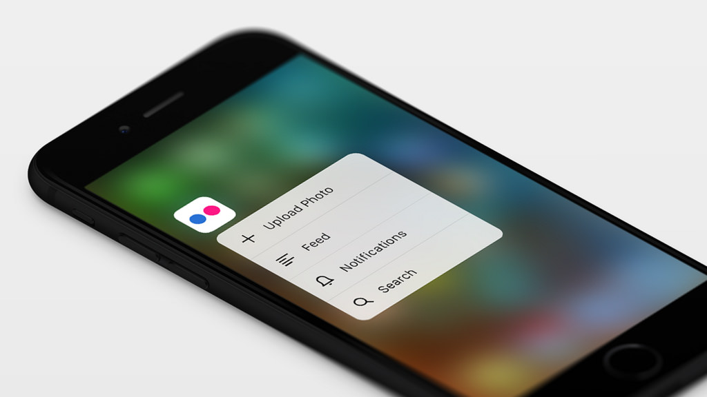 Flickr para iOS 3D Touch iPhone 6s teaser 001