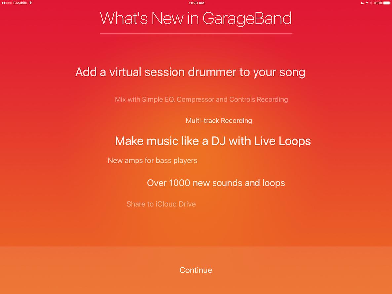 GarageBand 2.1
