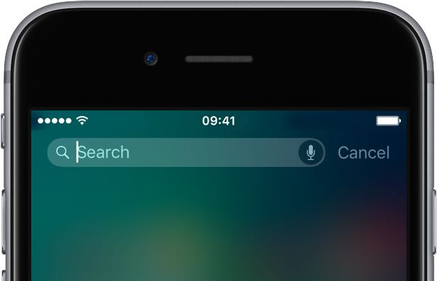 Search on iPhone
