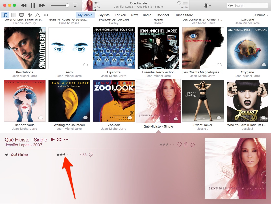 How to enable half star ratings in iTunes Mac screenshot 001