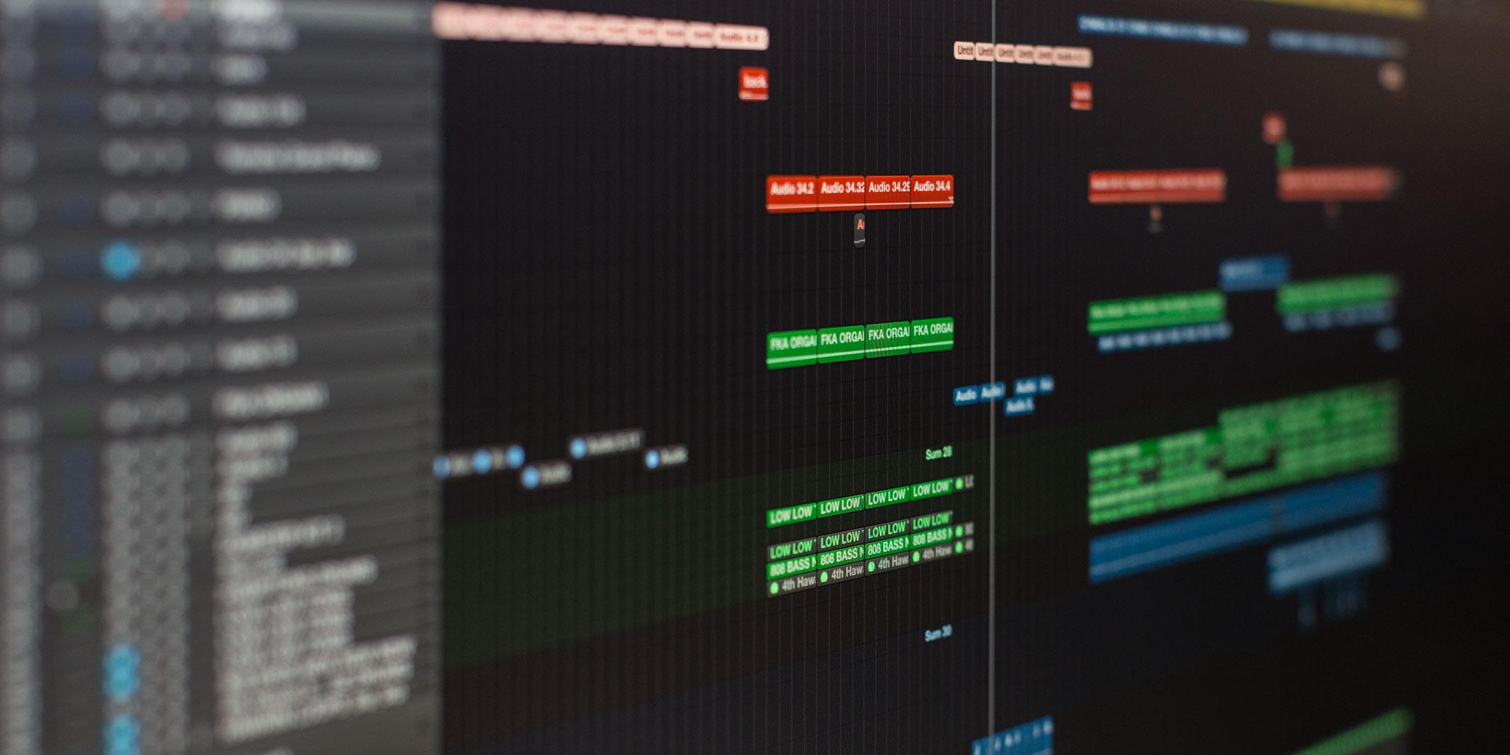 Logic Pro X Timeline