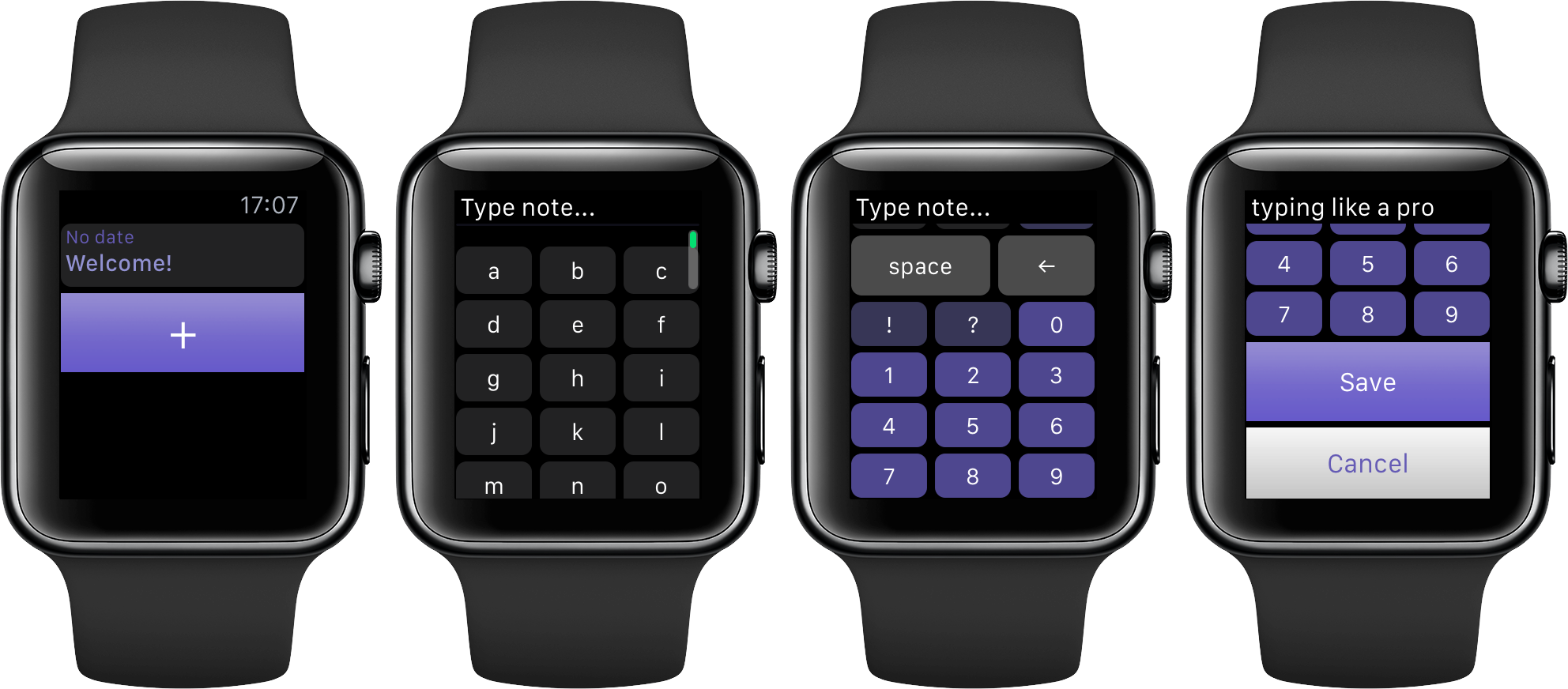 Note Tapper for watchOS Apple Watch screenshot 001