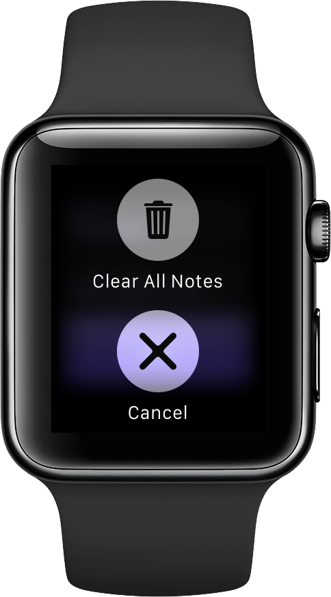Note Tapper for watchOS Apple Watch screenshot 002